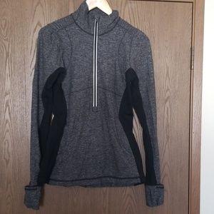 Lululemon Black and Grey Long Sleeve top size 8